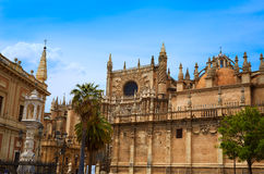 Seville cathedral and Archivo Indias Sevilla Stock Photos