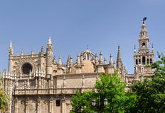 Seville Cathedral and Bell Tower (Giralda) Royalty Free Stock Image