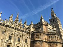 Seville Cathedral with the bell tower Royalty Free Stock Image