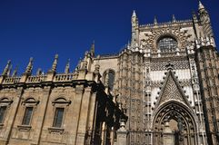 Rose of Cathedral of Seville, Spain Royalty Free Stock Photography