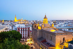 Seville Cathedral and cityscape Spain Royalty Free Stock Images