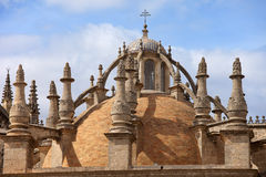 Seville Cathedral Dome. Dome of the 15-16th century Cathedral of Seville in Spain, Andalusia region stock images