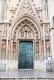 Seville cathedral door Royalty Free Stock Photo