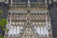 Seville Cathedral facade Closeup view Royalty Free Stock Photography