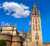 Seville Cathedral Giralda Tower Sevilla Spain Stock Image