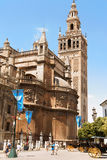 Seville Cathedral and La Giralda belltower Stock Photography