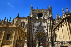 Seville Cathedral, old architecture, Spain Royalty Free Stock Photo