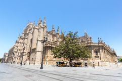 The Seville Cathedral Royalty Free Stock Photo
