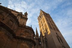 Seville Cathedral. Spain. It is the largest Gothic cathedral in royalty free stock image