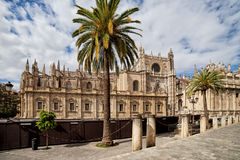 Seville Cathedral in Spain Stock Images