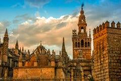 Free Seville Cathedral Spain Sunset Landmark Andalucia Spanish Moorish Architecture Royalty Free Stock Image - 160992826
