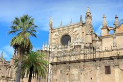 Seville cathedral Stock Image