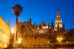 Seville cathedral sunset and Giralda Sevilla royalty free stock photography