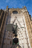 Seville Cathedral at sunset. Spain. royalty free stock images
