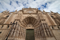 Seville Cathedral West Facade Stock Photography