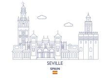 Seville City Skyline, Spain Stock Photos