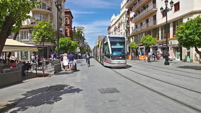 Seville city streets stock video