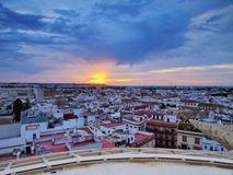 Seville Cityscape, Spain Royalty Free Stock Images