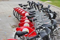 Seville community bikes Royalty Free Stock Photo