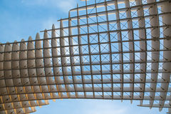 Seville - Detail of Metropol Parasol wooden structure located at La Encarnacion square Stock Photography