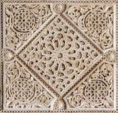 Seville - The detail of mudejar stucco in courtyard of Casa de Pilatos. Stock Image