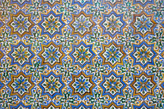 Seville - The detail of tiles in mudejar style in courtyard of Casa de Pilatos. Royalty Free Stock Photography