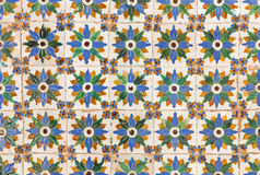 Seville -  The detail of tiles in mudejar style in courtyard of Casa de Pilatos. Stock Photography