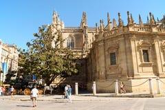Seville domkyrka Royaltyfria Bilder