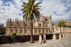 Seville domkyrka i Spanien Arkivbilder
