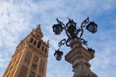 Seville domkyrka på solnedgången spain Royaltyfria Foton