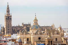Seville domkyrka Spanien Arkivbilder