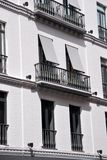 Seville downtown. Balconies and facade in Seville downtown, Spain Stock Photography