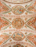 Seville - The fresco on the ceiling in church Hospital de los Venerables Sacerdotes Stock Photography