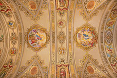 Seville - The frescos on the ceiling in church Basilica de la Macarena Royalty Free Stock Images
