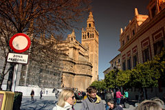 Seville Giralda and cathedral Stock Photo