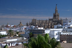 Seville. Historical city of Seville with La Giralda en the cathedral royalty free stock photos