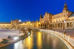 Seville Hiszpańszczyzna kwadrat De Espana lub Plac zdjęcie royalty free