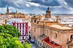 Seville, Hiszpania Andalusia, Giralda, - fotografia royalty free
