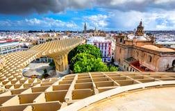 Seville, Hiszpania Andalusia, Giralda, - obraz stock