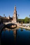 Seville, Hiszpania. Plac De Espana Obrazy Royalty Free