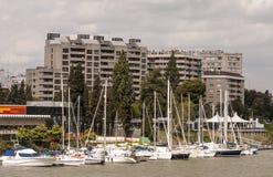 Seville i łodzie zdjęcia royalty free