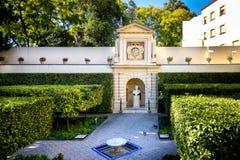 Seville - Istni Alcazar ogródy w Seville Hiszpania - natury i architektury tło Hiszpania Zdjęcia Stock