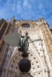 Seville katedra przy zmierzchem Hiszpania obraz stock