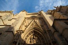 Seville katedra przy zmierzchem Hiszpania zdjęcie stock