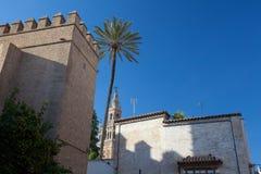 Seville katedra przy zmierzchem Hiszpania obraz royalty free