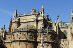 Seville - katedra St Mary Zdjęcie Royalty Free