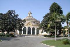 Seville. Landscape of the gardens Stock Photos