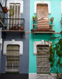 Seville Macarena barrio facades Sevilla Spain Stock Photo