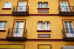 Seville Macarena dzielnicy fasady Sevilla Hiszpania Fotografia Royalty Free