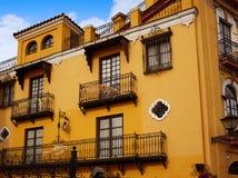 Seville Macarena dzielnicy fasady Sevilla Hiszpania Obraz Stock